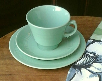 40s Woodsware Beryl trio - cup saucer side plate