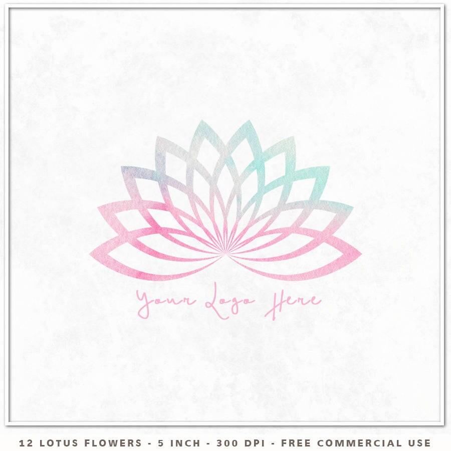 Lotus logo lotus flower clipart lotus clip art watercolor lotus this is a digital file izmirmasajfo