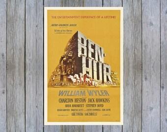 1959 Ben Hur vintage movie poster print