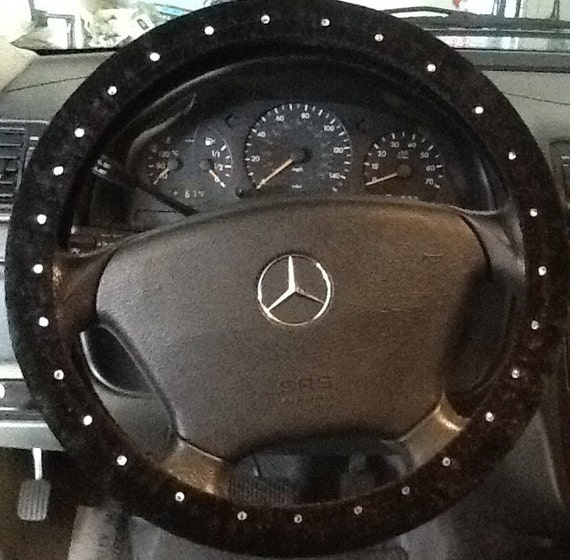 Items Similar To Black Steering Wheel Cover With Rhinestones On Etsy