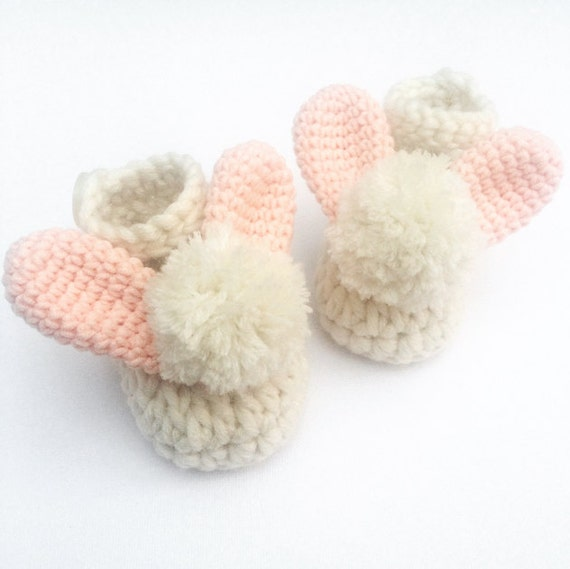 Crochet baby shoes easter baby gift baby booties new baby like this item negle Gallery