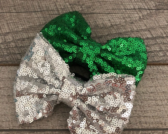 "Sparkly Bow | Attachment for Dog Collar | Medium/Large Dog | CupcakePups 3"" x 5"""