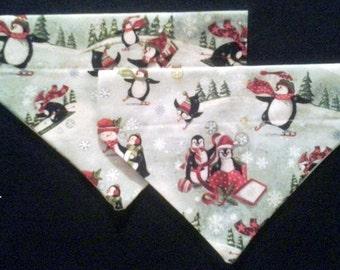 SALE! Penguin Christmas Dog Bandana!!