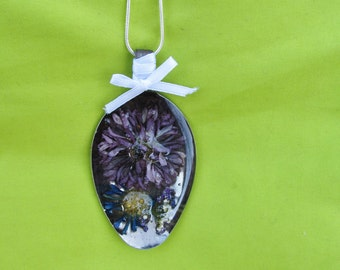 Preserved Flower Spoon Necklace