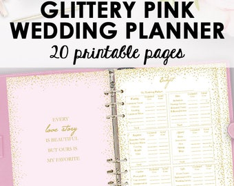 Wedding Planner Book, Wedding Planner Printable, Planning Binder Printables, Checklist Planning Printables, Organization, Instant Download