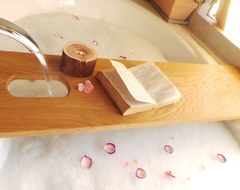 5th Anniversary Gift, Bathtub Caddy Extra Long, Valentines Day Gift,  Mother's Day Gift For Her,