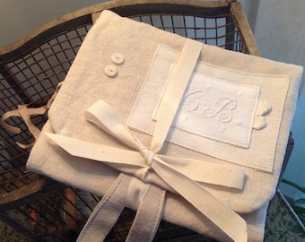 Toilet tissue cover old monogrammed CB
