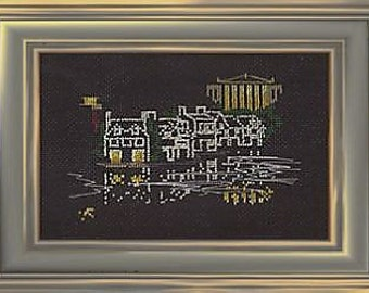 Boathouse Row in Philadelphia counted cross stitch KIT