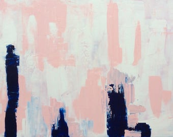 "Acrylic on canvas ""Beverly Bills"" 100 x 70 cm Modern Art acrylic original abstract painting on canvas"