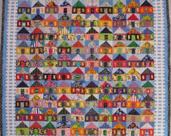 Quilt Pattern -- Paper Pattern 100 Houses
