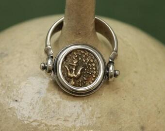 6262 Widow's Mite Silver Flip Ring
