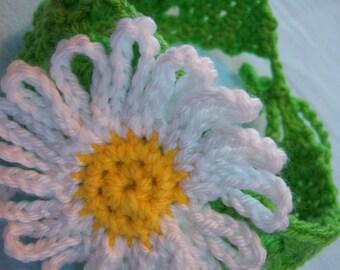 Spring Green Daisy Headband - Child