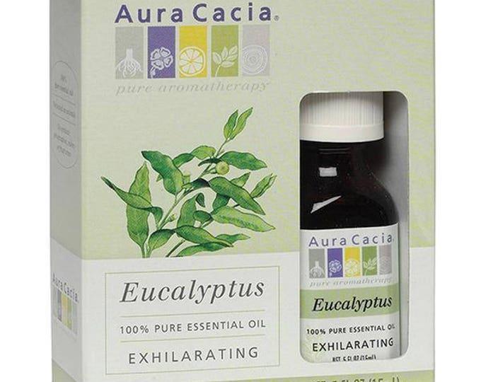 Aura Cacia Eucalyptus Essential Oil, 0.5 FL. OZ.