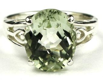 Green Amethyst, 925 Sterling Silver Ring, SR139