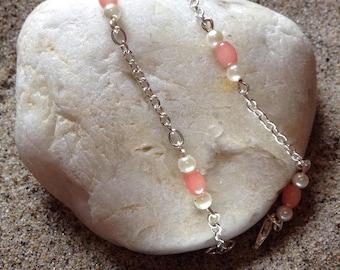 Coral anklet