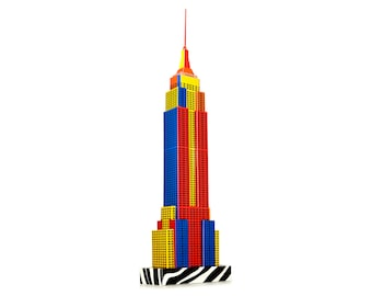 Empire State Building, Modell Bastelset || Popart-Edition || 18 Zoll oder 45 cm hoch