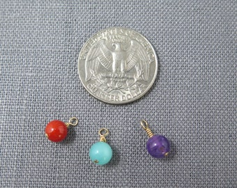 Paloma collection.6mm gemstones.coral, amathyst,amazonite