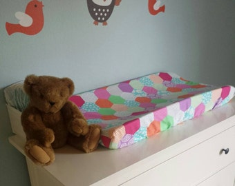 Changing Pad Cover | Pink and Purple Patchwork