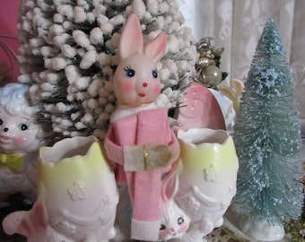 Sweet Old Pixie Elf-Bunny-Easter-Christmas-Pretty Pink-Japan-Rabbit-Original Tag