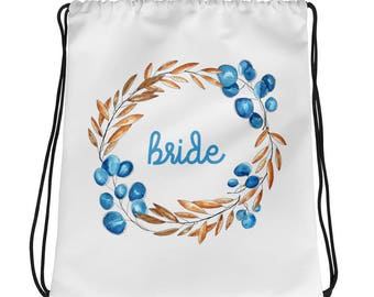 Bride Bridal Party Gift Drawstring bag