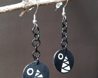 Super Mario Chain Chomps - Shrinky Dink Earrings