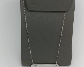 925 Sterling Silver diamond Necklace