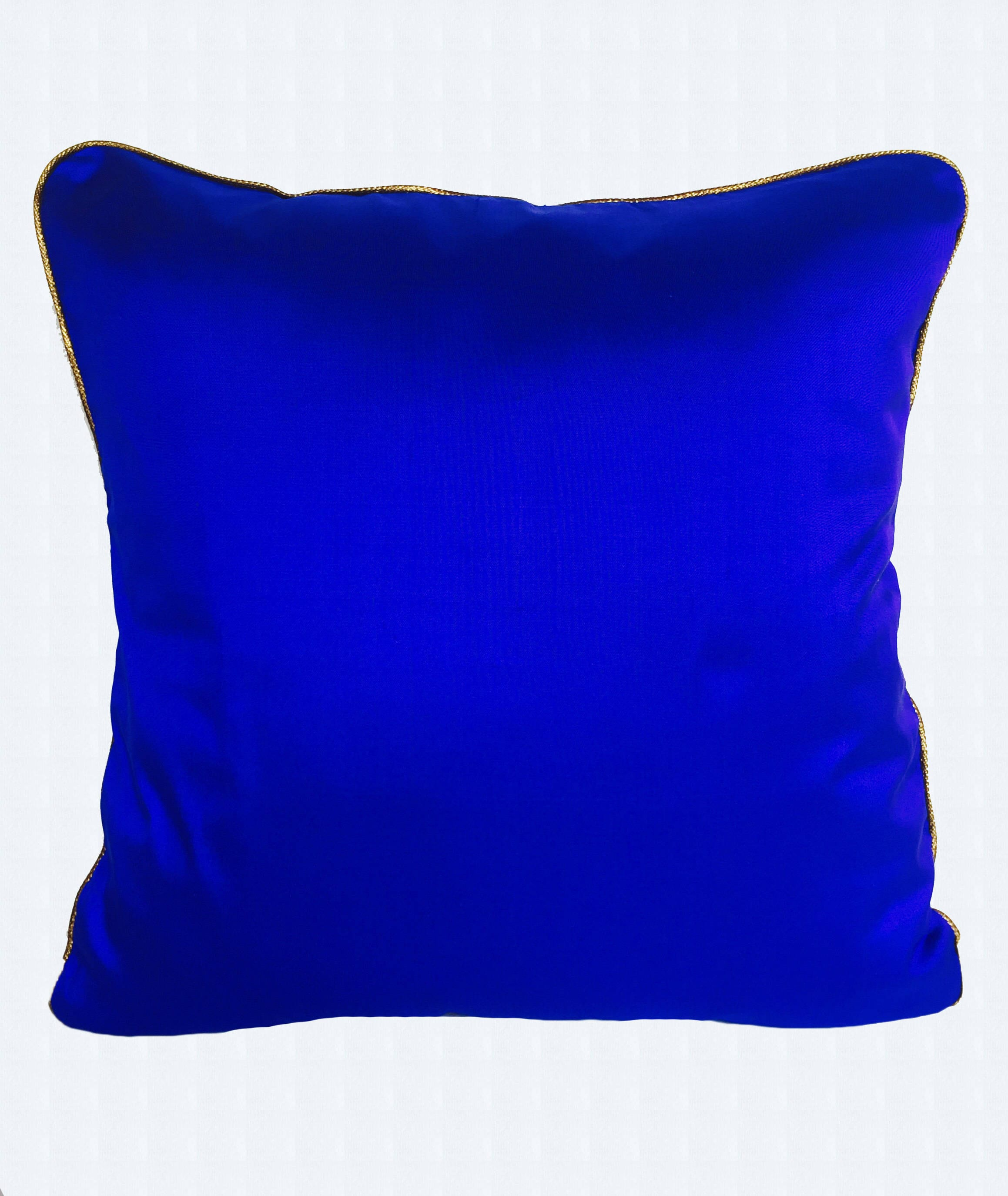 Royal Blue dupioni silk throw pillow cover. Cobalt blue