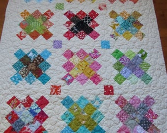 Scrappy Granny Square Quilt - Baby Girl, Toddler, Crib