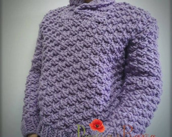 Knitted sweater - Lilac Synphony