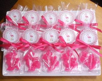 Flamingo Party - Flamingo Favors, Flamingo Gifts, Florida, Flamingo Decor, Flamingo Party Favors, Flamingo Soap - Set of 10