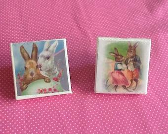 Miniature Easter Bunnies Canvas