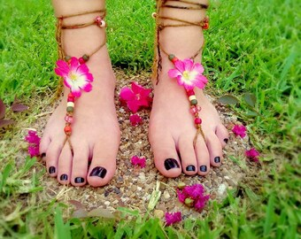 Custom Handbraided Barefoot Sandals