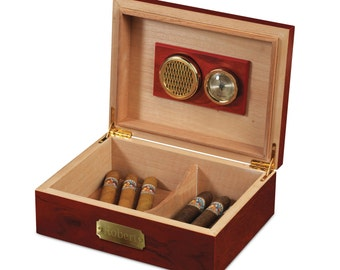 Cherry Wood Cigar Humidor (g186-1112) - Free Personalization