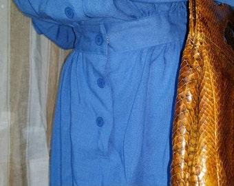 Brown Snake Skin Hand Bag - Purse - 1980's - Shoulder Bag