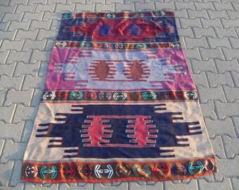 kilim rug free shipping VINTAGE TURKİSH antalya oerlon kilim  handwoven kilim rug decorative kilim - SİZE : 44'' X 66'' ( 110 cm X 167 cm)
