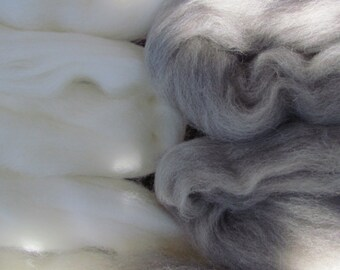 Natural Coloured Pure Wool Tops 100gms