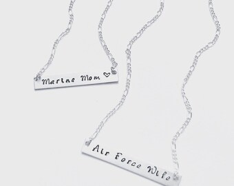 Military Necklace, Marines, Army, Navy, Airforce