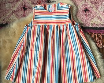 Vintage Striped Empire Waist Dress