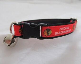 Chicago Blackhawks Cat  or Small Dog Collar