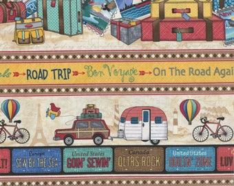 2017 Row By Row Experience - Timeless Treasures - On the Go! Border Stripe