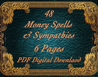 Money Spells & Sympathies, PDF Download, Book Of Shadows Pages, Witchcraft