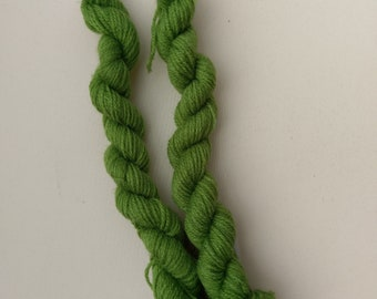 Limited Edition Mini Skein, 20g, DK weight yarn, Green grass