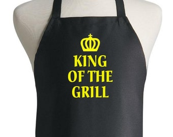Custom Novelty BBQ Apron King Of The Grill Aprons For Men