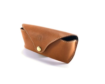 Personalized Leather Glasses Case / For Rayban / Monogram Leather Glasses Case / Sunglasses Cover / Eyeglasses Case