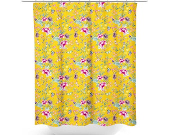 Peach Shower Curtain Peach Bathroom Decor Floral Shower