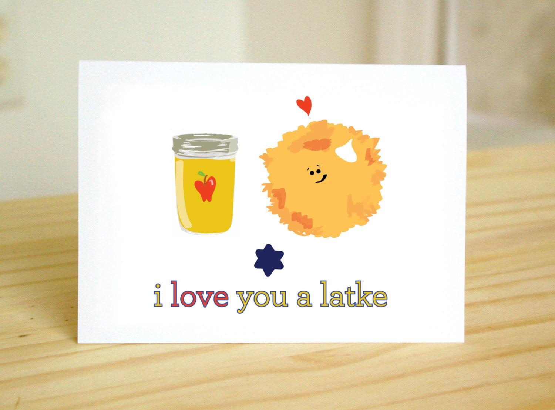 I love you a latke funny cute jewish holidays hanukkah zoom kristyandbryce Images