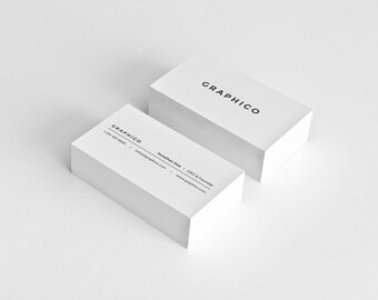 Simple Business Card Design Template - Photoshop Templates - Modern, Clean, Minimalist - Instant Download - v2