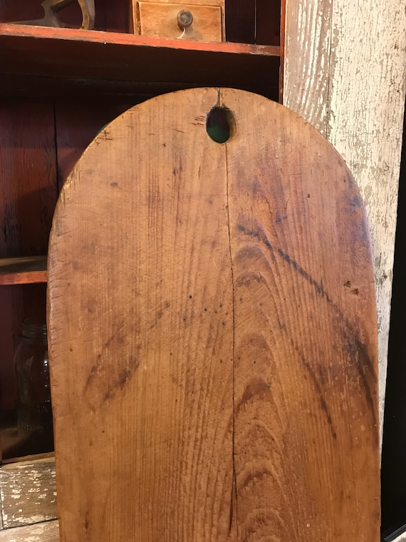 Vintage solid Wood Cutting Board Tombstone