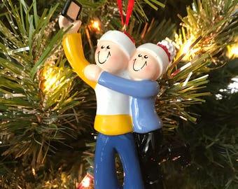 Selfie Couple Ornament