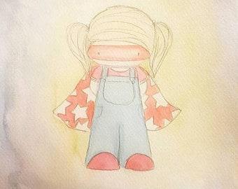 Superhero girl print
